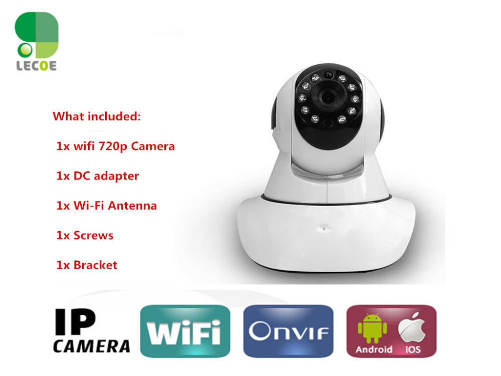 720P HD Wifi Wireless Baby Monitor PTZ Security Camera ONVIF Cloud NightVision Mic & Speaker iOS & Android Mobile View