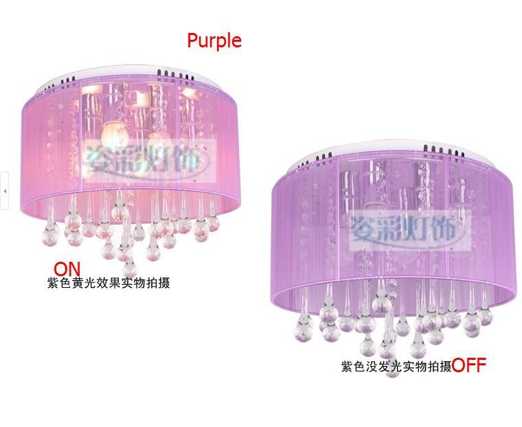 purple crysatl lamp