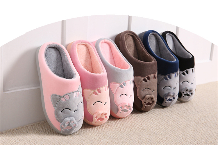 Womens Ladies Slippers Sandals Genuine Leather Warm Cozy CAT WINTER