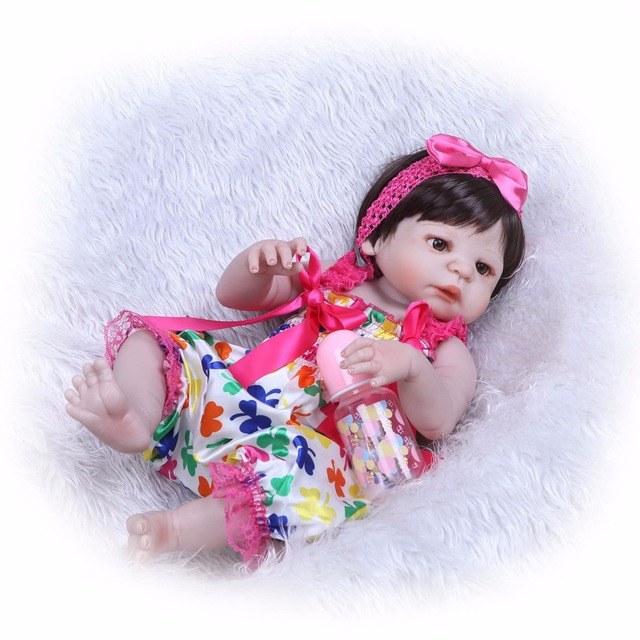 Silicone Reborn Baby Dolls Lovely Doll For Baby Gift 2