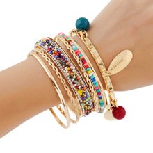 ethnic bracelets & bangles for women bilezik carters pulseiras gold leaf love bracelet femme jonc indian body jewelry