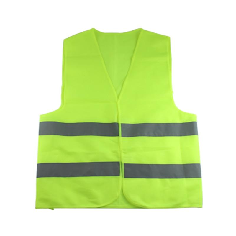 Rompi Pakaian Lalu Lintas Sepeda Motor Pengendara Malam HIJAU-Kuning Keselamatan Keamanan Visibilitas Reflektif Bersepeda Olahraga Outdoor
