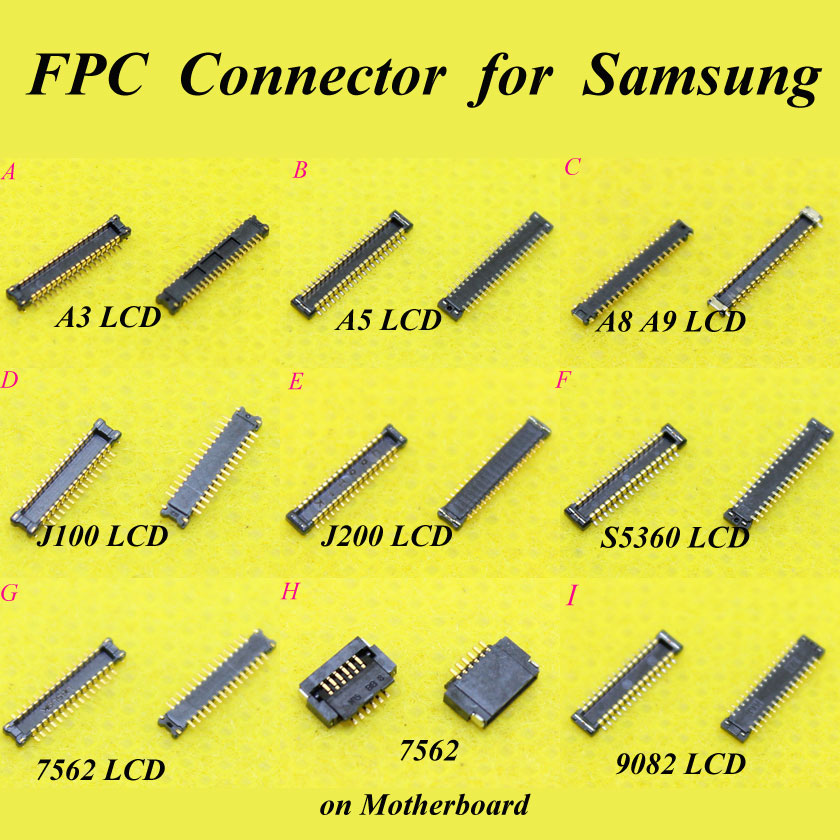 Cltgxdd LCD Display FPC Connector For Samsung Galaxy A3 A5 A5000 A8 A9 J100 J200 S5360 7562 9082 On Motherboard Logic Board