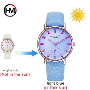 Image 2 - Kadın Saatler Deri Yeni Model Renk Güneş Altında Değiştirebilirsiniz Bayanlar Genç Kızlar Için Kadın Saati Kol Saatleri Relogio Feminino