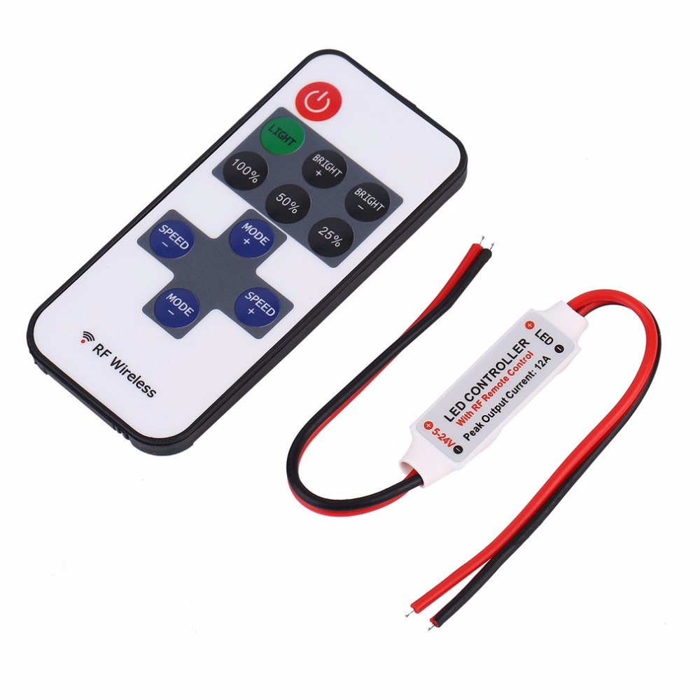 Realistic New Remote Controller Mini Rf Wireless Led Dimmer Controller For Single Color Light Smd5050/3528/5730/5630/3014 Remote Control Lighting Accessories