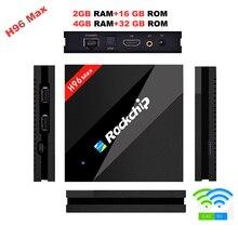 H96 MAX Best Rockchip RK3399 Android 7.1 TV Box 4GB RAM 32GB ROM 6 Core 2.4/5Ghz Wifi H.265 Smart BT4.0 set top box Media player