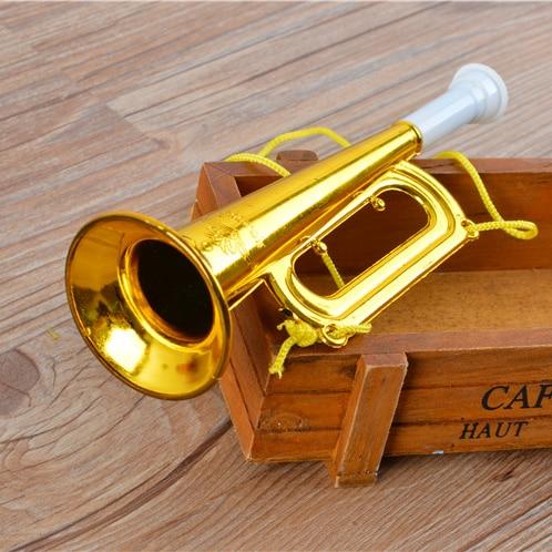 Бесплатная доставка новый горячий золотой маленький рог Рождественский подарок на день рождения детей маленькие игрушки оптом детские музыкальные инструменты игрушки
