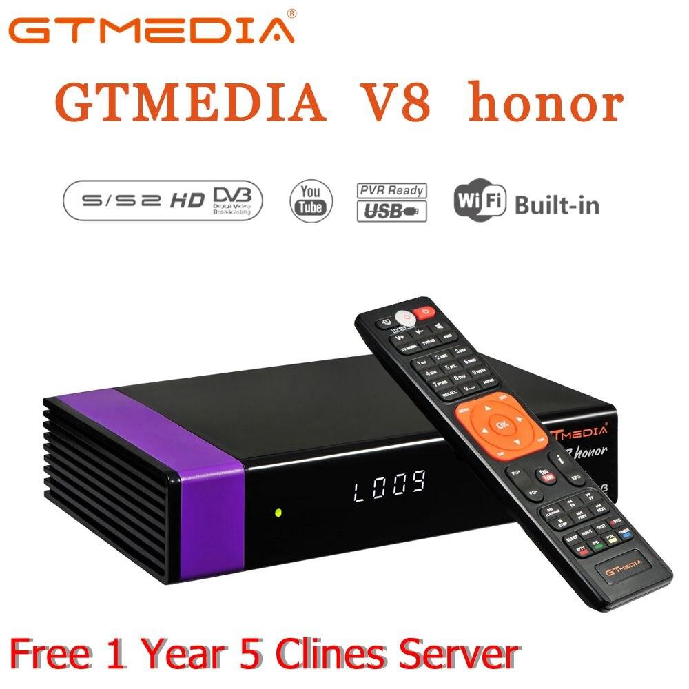 Nova Full HD Receptor de Satélite com 1 DVB-S2 GTMedia V8 Ano CCCAM Europa Espanha para Smart TV Digital Apoio CCCAM IPTV Youporn