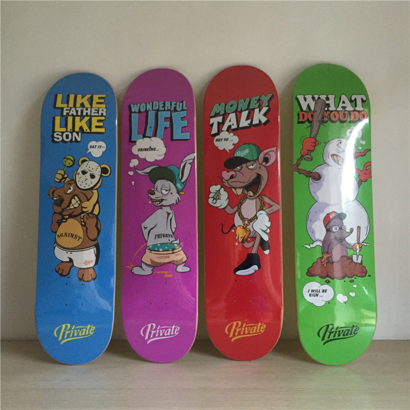 Children Skateboard Decks Animal Series Skate Board Canadian Maple Deck 8 X 31.125 Patinetas famous russian brand union board full canadian maple wooden deck skateboard 8 patins street 10types available