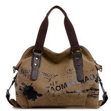 2016 European High Quality Women Bags Ladies Canvas Tote Bag casual women messenger bags hot sale women handbag
