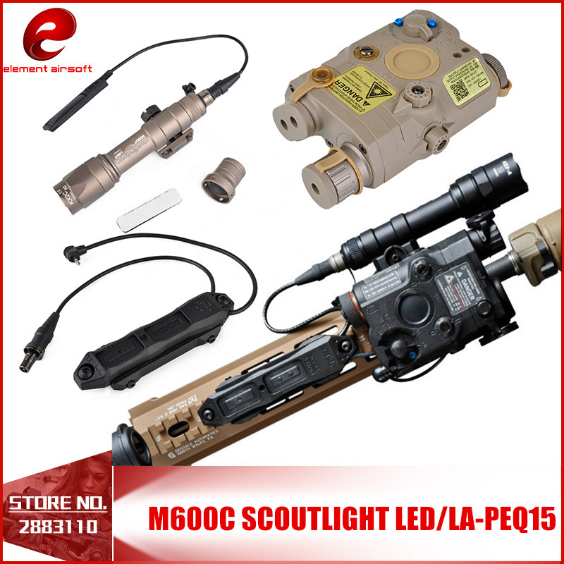 Element 3PCS Airsoft LA PEQ15 Red Dot Tactical Light PEQ Red Laser M600C SF Weapon Flashlight Remote Switch Augmented Pressure peq15 la5 airsoft spotlight weapon shotguns light tactical flashlight military red dot ir laser pistol lanterna rifle lights