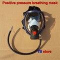 Маска для дыхательного аппарата с положительным давлением и клапан подачи воздуха RHZK6.8/30mpa  противопожарная маска с положительным давление...