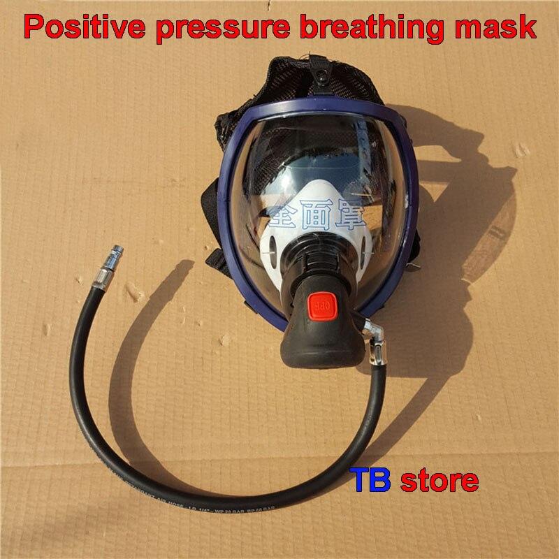 Ad aria a pressione positiva respiratore maschera e RHZK6.8/30mpa valvola di alimentazione di aria a pressione Positiva fuoco maschera di Gas valvola di alimentazione-in Maschere da Sicurezza e protezione su  Gruppo 1