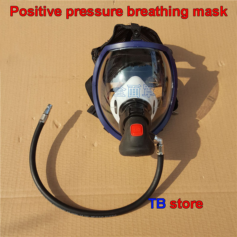 Positive pressure air breathing apparatus mask and RHZK6.8 / 30mpa air supply valve Positive pressure fire mask Gas supply valve-in Masks from Security & Protection on Fengfang