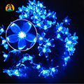 Cherry Peach Blossom Flower LED Solar Fariy String Light 7M 50LED Outdoor Party Christmas New Year Birthday Decoration casamento