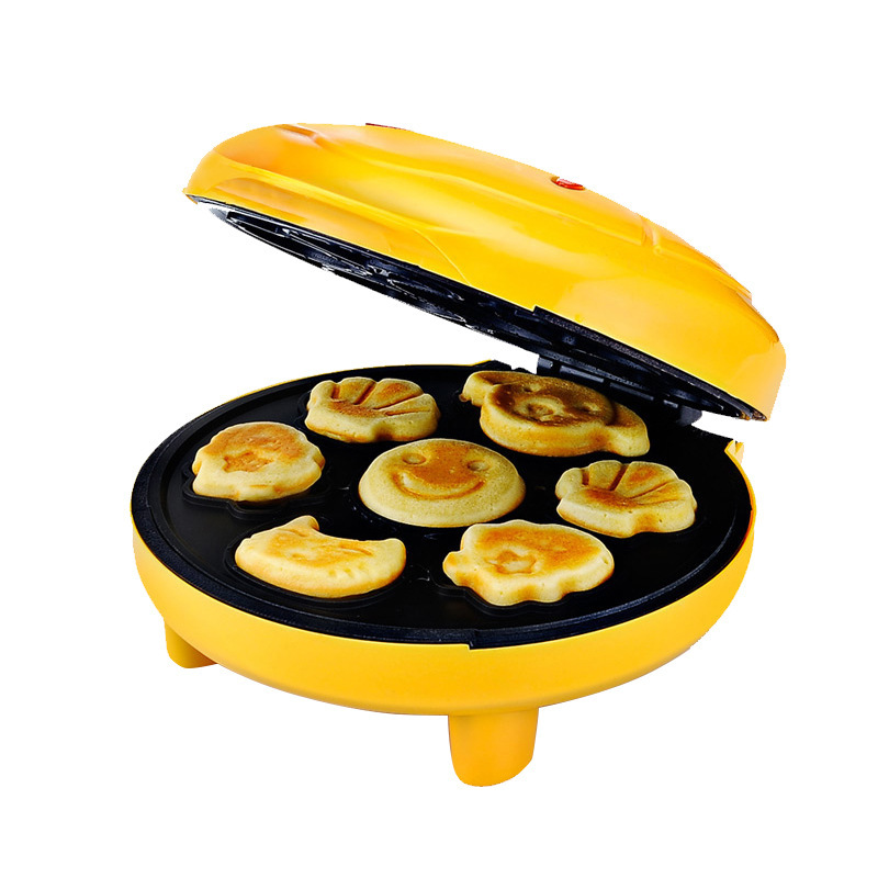 Children Mini Cartoon Waffle Maker Cake Machine With Double Sided Heating To Making Breakfast 1