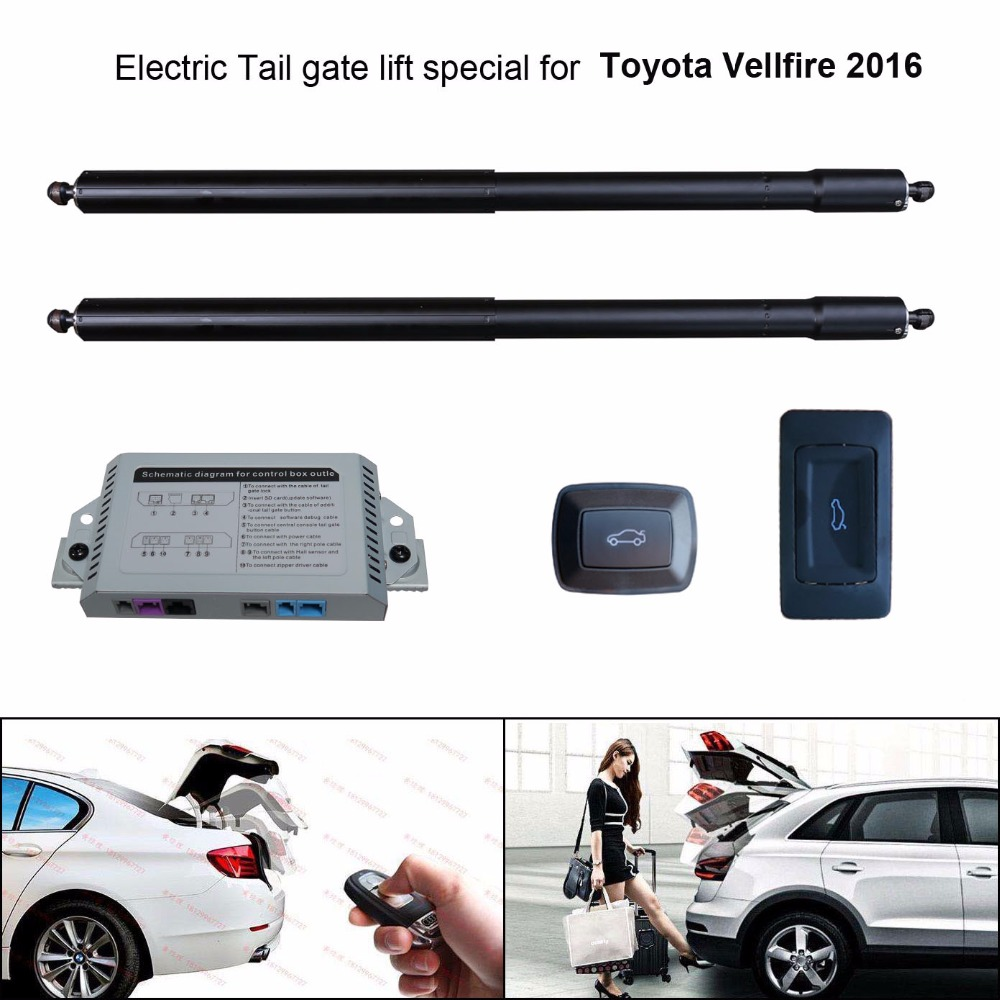 smart auto electric tail gate lift for toyota vellfire 2016 control set height avoid pinch [ 1000 x 1000 Pixel ]