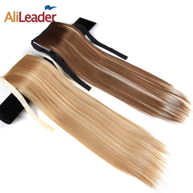 Alileader Made 10 Colors Straight False Hair Tails 50cm 80g Long