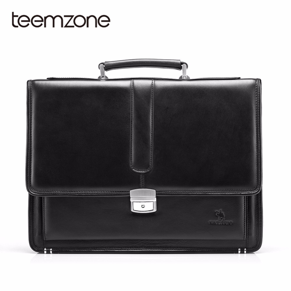 Free Shipping Hot Men's Genuine Leather Vintage Frmal Business Lawyer Briefcase Messenger Shoulder Attache Portfolio Tote T8880 teemzone top men genuine leather vintage formal business lawyer briefcase messenger shoulder attache portfolio tote brown t0581