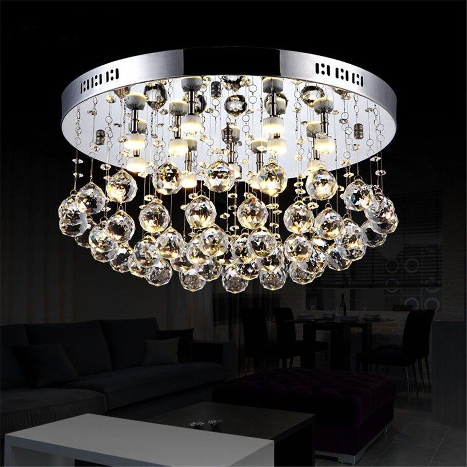 Ceiling light LED Lights k8 Crystal Modern Hanging Round Bread
