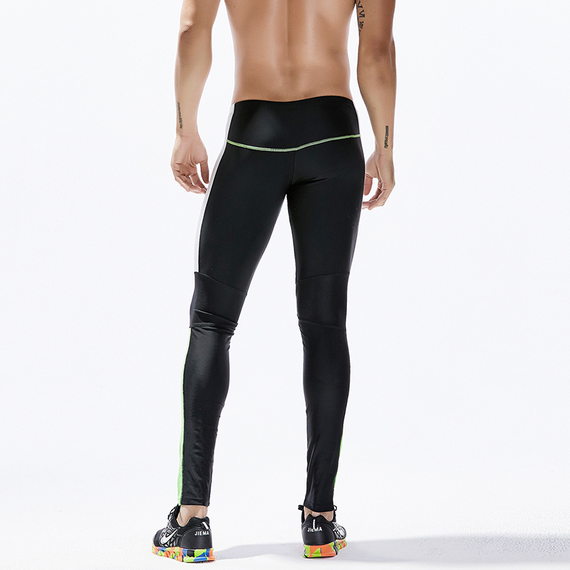 Sport Leggings for Man Ankle Length Compression Pants Mens Patchwork Running Tights Men Running Legging Calzas Deportivas Hombre in Running Tights from Sports Entertainment