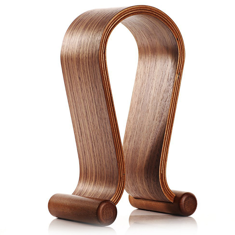 SAMDI Wooden Headphone Stand Headphone Holder Headset Hanger Headset Rest For All Headphone Size In Brich Brown in Earphone Accessories from Consumer Electronics