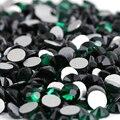 SS5 Esmeralda color 1440 unids cristal de Hotfix del rhinestone no 1.7mm Nail Art Piedras flatback