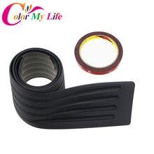 Color My Life Rubber Rear Guard Bumper Protector Trim Cover Accessories Sticker For Chevrolet Cruze Trax Captiva Aveo Malibu
