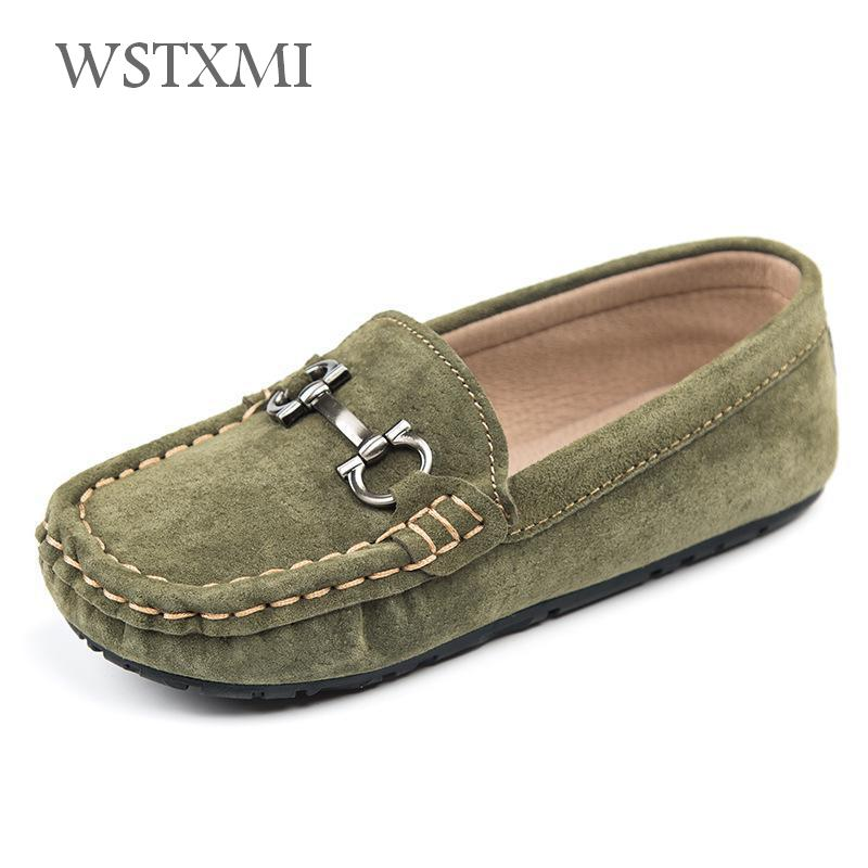Children Genuine Leather Shoes for Boys Loafers Moccasins Girls Casual Slip-on Flats Autumn Sneakers Soft Bottom(Big/Little Kid) 2018 new genuine leather kids shoes boys mocassins fashion soft children shoes for boys girls casual flat slip on loafers