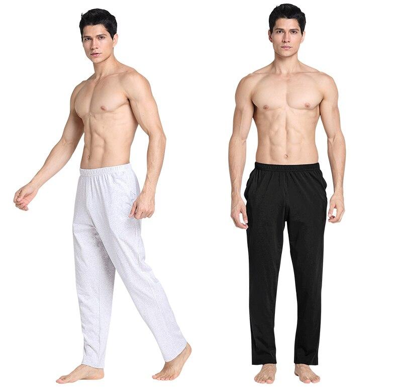 Men's Trousers Pajamas Pijamas Soft Men's Sleep Bottoms Homewear Lounge Pants Pajama Casual Loose Home Clothing