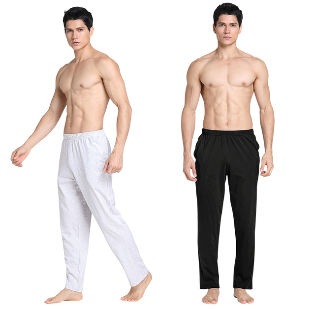 babb19ff159 Men s Trousers Pajamas Pijamas Soft Men s Sleep Bottoms Homewear Lounge  Pants Pajama Casual Loose Home Clothing