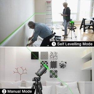 Image 5 - Huepar 8 linii Green Beam 3D Laser krzyżowy poziom samopoziomujący 360 pionowe i poziome ładowanie USB użyj akumulatora suchego i litowo jonowego