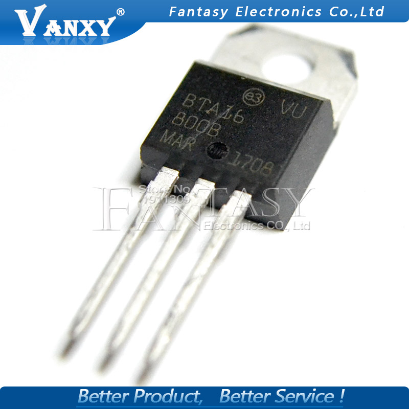 10pcs BTA16-800B TO-220 BTA16-800 TO220 BTA16 800V 16A 16-800B New And Original