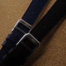 22 mm ( hebilla 18 mm ) de lujo de moda accesorios para hombres de la marca de relojes negro azul de goma de silicona correa de reloj de pulsera promoción