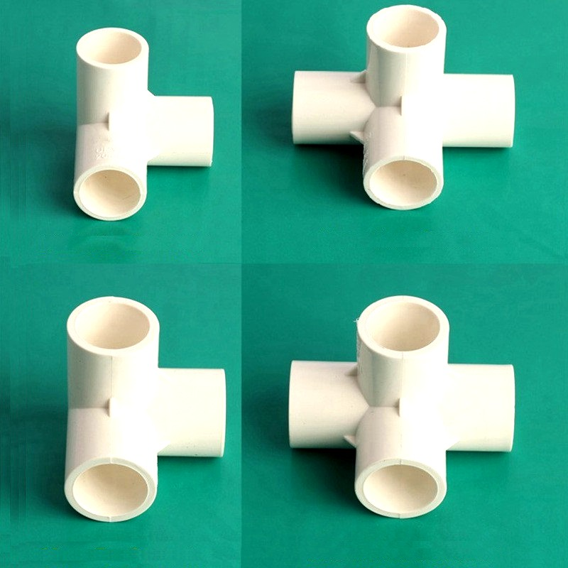 Nuonuowell white 20 25mm inner dia equal tee cross pipe for White plastic water pipe