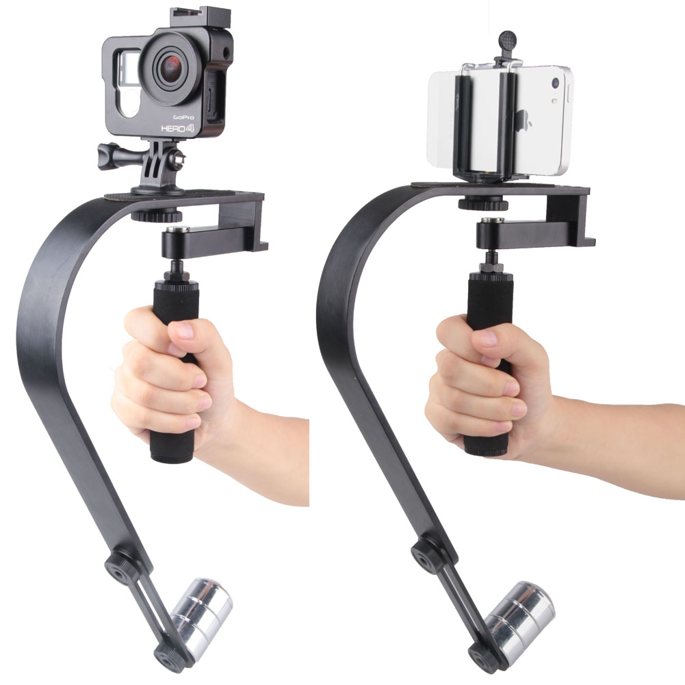 Aluminium Alloy Camera Stabilizer Mobile Phone Stabilizer For Gopro Camera Steadicam for DV iPhone Video Stabilizer bicycle motorcycle handbar aluminium alloy mount holder for camera dv black silver