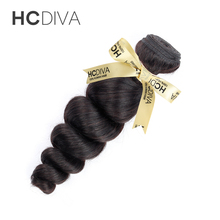 HCDIVA Loose Wave Malaysian Non Remy Human Hair Extension Weft 10-28 inch Natural Black Color Free Shipping 1 Bundle Hair Weave