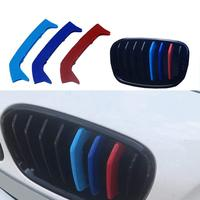 muchkey Car 3D Front Grille Insert Trim Strips grill Cover Stickers For BMW F20 F218 Grilles