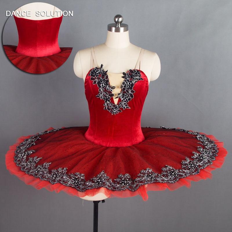 Adult Professional Ballet Platter Tutu Skirt Dance Dress Red White Lace Costume