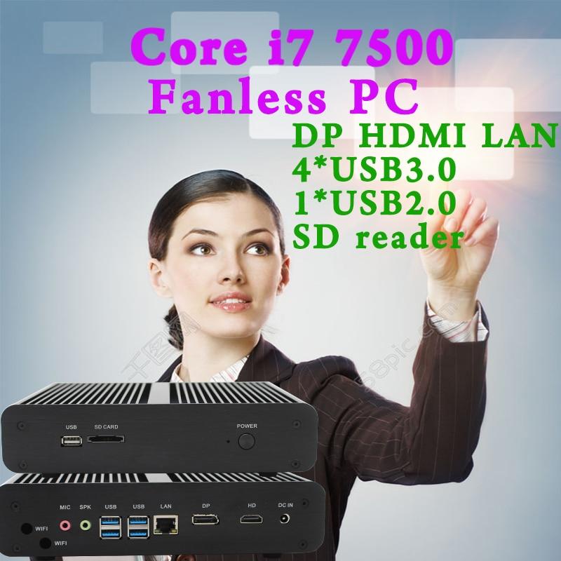 MINI PC 7e Gen Intel Core i7 7500U Kaby Lac Max 3 5 GHz Intel HD