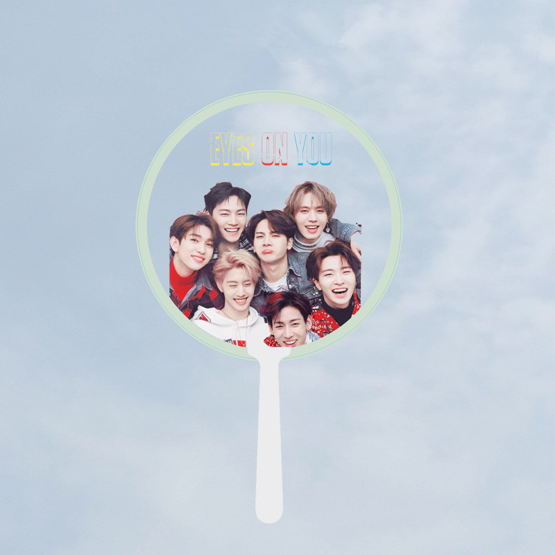Costume Props Kpop Got7 Transparent Pvc Fan Printing Circular Fans Gifts Concert Same Fans Jinyoung Jackson Youngjae Yugyeom Hand Fans Hf179 Novelty & Special Use