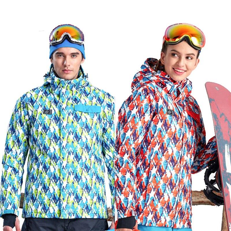 Prix pour 2017 Hommes Hiver de Femme Imperméable Ski de Vestes En Plein Air Tectop Manteaux À Capuchon de Sport Pour la Randonnée Camping Snowboard VA079