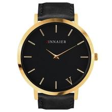 Quartz Watch Men Women Famous Brand Gold Leather Band Wrist Watches Relojes 2017 Montre Homme Erkek Kol Wristwatch