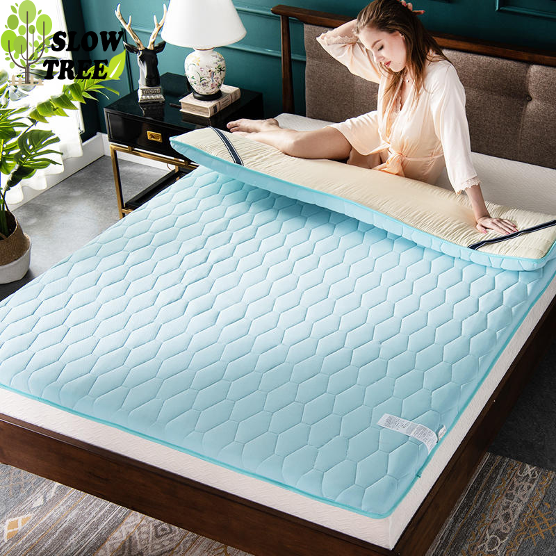 Slow Tree Silver Ion Antibacterial Mattress Home Tatami Mat Thicken Livingrooom Carpet Bedroom Folding Foam Mattress 180x200cm