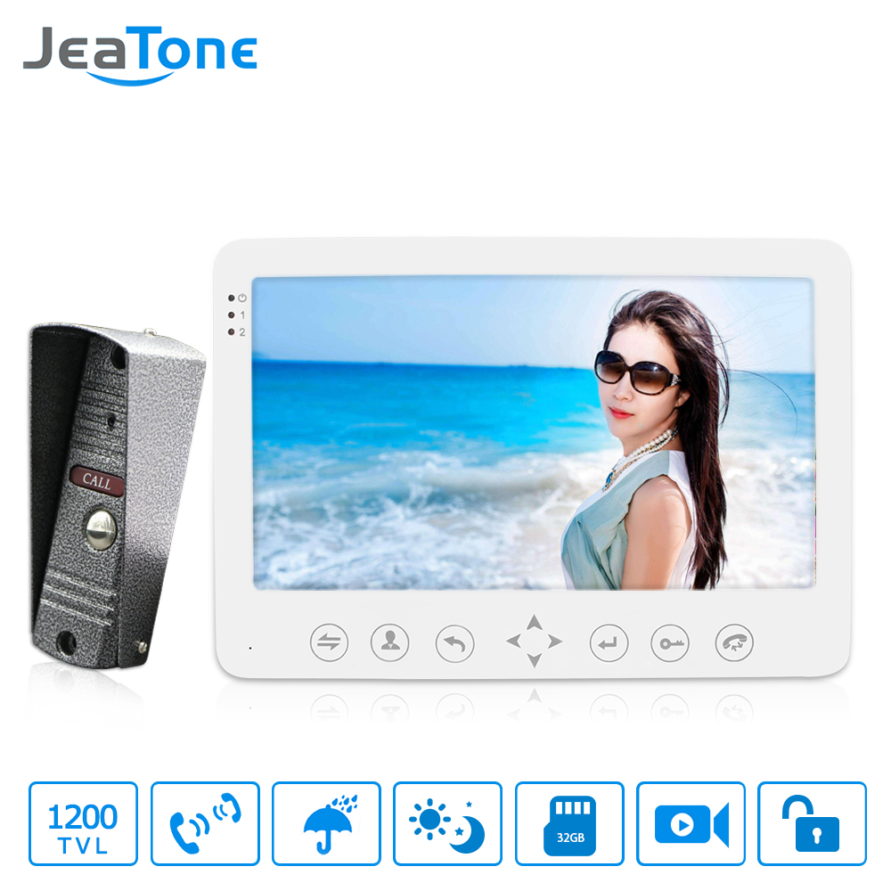 JeaTone 7 Intégré Mémoire 1 Caméra Extérieure 1 Moniteur Vidéo Interphone Interphone Sonnette Interphone étanche Multi-langues menu