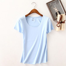 High Quality Summer Women Casual Cotton T-shirt O-Neck Short Sleeve Solid Color Top Tee t shirt Female Loose Large Size Clothing
