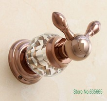 crystal decoration rose gold robe hook kitchen door rear coat clothes hooks fitting hotel bathroom sanitary hardware accessories