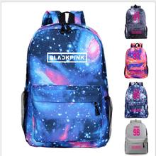 BLACKPINK JENNIE LISA Rose Women&Men Backpack Mochila Feminina Canvas School Bags for Teenage  Rucksacks Shoulder Bag Xmas Gift