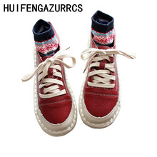 HUIFENGAZURRCS-Genuine leather new flat sole shoes,low upper single shoes,series of original hand-made soft womens shoes