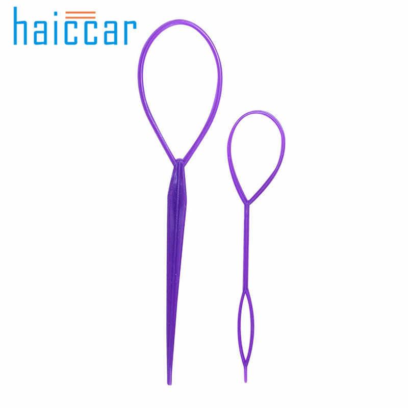 HAICAR Putar Sihir Hair Styling Clip Tongkat Bun Pembuat Braid Alat Gaya Rambut Wanita rambut wendding alat N #